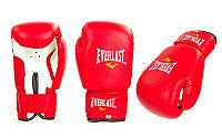 Перчатки боксерские PVC на липучке ЮНИОР MA-0033-R EVERLAST,  ZELART (р-р  4-12oz, красный)