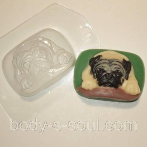 Пластиковая форма для мыла Мопс