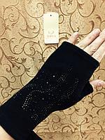 Трикотаж женские перчатки без пальцев/женские перчатки только оптом, фото 1
