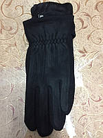 Трикотаж+замш перчатки мужские Anna-мода только оптом