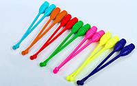 Булавы для художественной гимнастики 35см GM-4435 (пластик, l-35см, 83г, цвета в ассортименте)