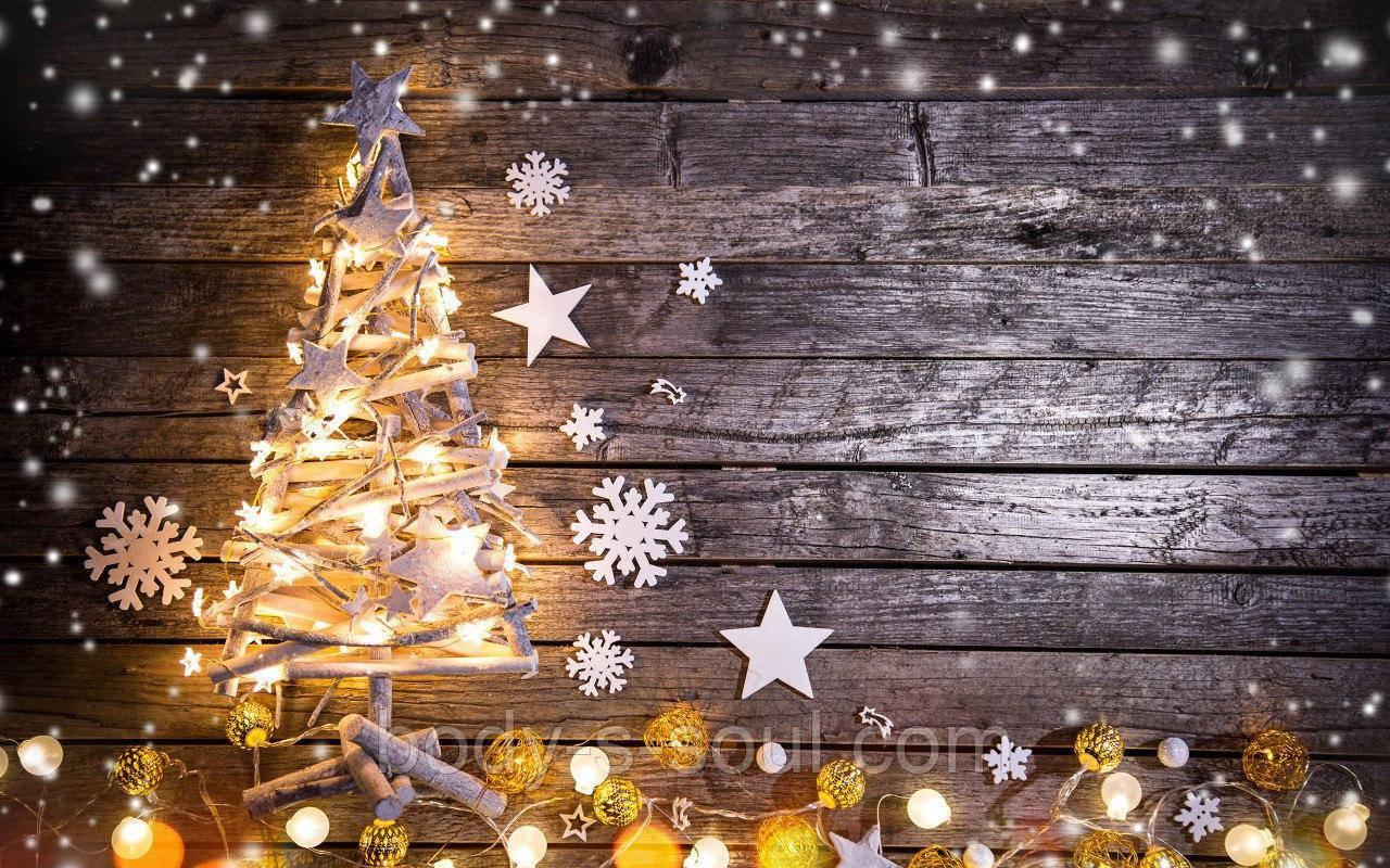Фотофон виниловый, новогодний елочка с герляндой