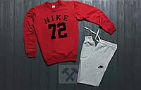 Мужской спортивный костюм Nike 72 / красный / серый / свитшот + спортивные штаны