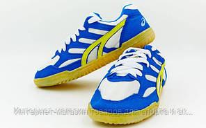 Кроссовки волейбольные мужские ASICS OB-2615 (р-р 35-45) (верх-PU,PL, подошва-PU, синий-белый)