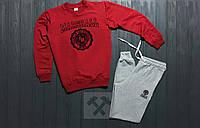 Мужской спортивный костюм Franklin Marshall / красный / серый / свитшот + спортивные штаны