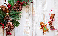 Фотофон виниловый, новогодний с печенькой