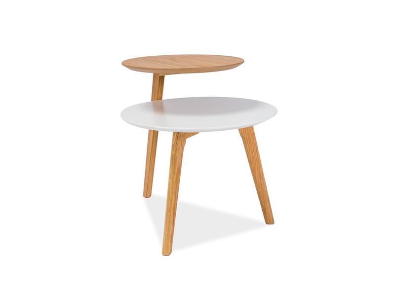 Журнальный столик Neo Signal белый/дуб натуральный