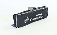 Сетка для волейбола MIKASA C-6390 (PP 4мм, р-р 9,5x1м, ячейка 12x12см, с метал. тросом)