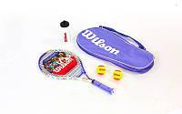 Набор для большого тенниса WILSON WRT294500 VENUS-SERENA STARTER SET(1ракет+2мяча+бутылка для воды)