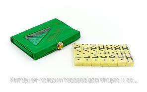 Домино настольная игра в чехле IG-2804 (кости-пластик, h-2,2см, р-р чехла 10,5x7x1см)