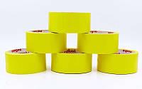 Скотч для разметки спортивных площадок C-6360-Y (р-р 20мх4,8смх20мк, желтый)