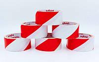 Скотч для разметки спортивных площадок C-6360-WR (р-р 20мх4,8смх20мк, белый-красный)