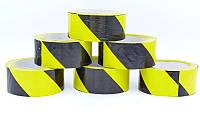 Лента сигнальная для ограждения и защиты C-6362-YBK (р-р 100мх4,8смх5мк, желтый-черный)