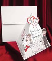 Свадебная пригласительная открытка-календарь
