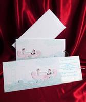 Оригинальные пригласительные на свадьбу на морскую тематику, свадебные приглашения