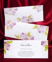 Свадебная пригласительная открытка с конвертом