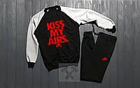 Мужской спортивный костюм Nike Kiss My Airs / комбо / черный / серый / свитшот + спортивные штаны