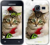 """Чехол на Samsung Galaxy J1 Mini J105H Новогодний котёнок в шапке """"494c-258-6129"""""""