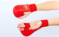 Перчатки для каратэ DAEDO BO-5076-R (PU, р-р S-XL, красный, манжет на резинке)