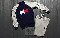 Мужской спортивный костюм Chicago Bulls / комбо / тёмно - синий / серый / свитшот + спортивные штаны