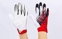 Кроссовые перчатки текстильные FOX BC-4828-2 (закр.пальцы, р-р M-XL, красный-черный-белый)