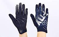 Кроссовые перчатки текстильные FOX BC-4828-3 (закр.пальцы, р-р M-XL, белый-серый-черный)