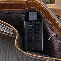 Кожаный мужской кошелек Bailini коричневый, фото 3