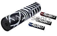 Защита руля (подушка) 2шт. SCOYCO Z10 (PVC, р-р 24,5x4,5см, черный, синий, красный)