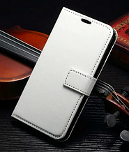 Кожаный чехол-книжка для Samsung Galaxy S7 белый