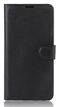 Кожаный чехол-книжка для Xiaomi Redmi 4X черный