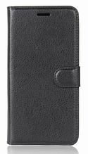 Кожаный чехол-книжка для Meizu M5C черный