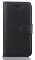 Кожаный чехол-книжка для Lenovo Vibe K6 черный