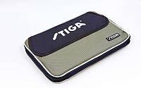 Чехол на ракетку для настольного тенниса STIGA-884801 STYLE (полиэстер, серо-черный,р-р 30х21см)