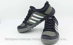 Обувь спортивная (р-р 36-40) Adidas OB-0011-BK Doroga (верх-PL, PVC,подошва-RB, черный-серый)