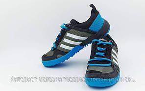 Обувь спортивная (р-р 36-40) Adidas OB-0011-BLGR Doroga (верх-PL, PVC, подошва-RB, синий-серый)