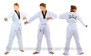 Добок кимоно для тхэквондо MATSA МА-0018 (хлопок 100%, р-р 0-6 (130-190см), 240 г- м2)