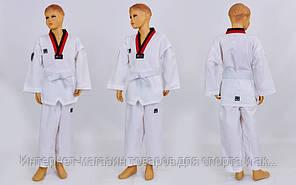 Добок кимоно для тхэквондо Mooto CO-5630 (хлопок 35%, полиэстер 65%, р-р 1-6 (110-160см), 240 г на м2)