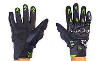 Мотоперчатки кожаные с закрытыми пальцами и протектором Alpinestars M10-BK (р-р M-XL, черный)