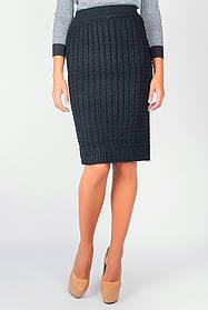 Юбка женская вязанная 434K005 (Черный)