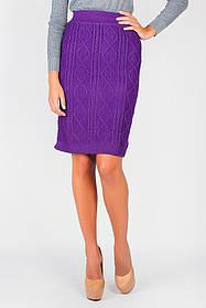 Юбка средней длины женская 434K005-1 (Фиолетовый)