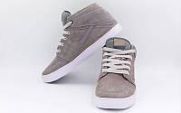 Обувь спортивная мужская кожаная Nike OB-3474-GR (р-р 40-44) (верх-замша, PVC, подошва-RB, серый)