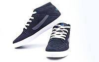 Обувь спортивная мужская кожаная Nike OB-3474-BK (р-р 40-44) (верх-замша, PVC, подошва-RB, черный)