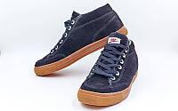 Обувь спортивная мужская кожаная Nike OB-3467-BK(MIX) (р-р 40-44) (верх-замша,PVC, подошва-RB, черный)