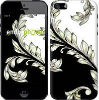 """Чехол на iPhone 5 White and black 1 """"2805c-18-716"""""""