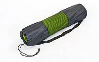 Чехол для йога коврика FB-3926 (р-р 26 x 66см, сетка, полиэстер, черный)
