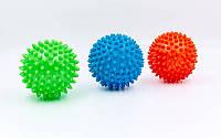Мячик массажер резиновый FI-5653-10 (d-10см, 70гр, цвета в ассортименте)