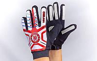 Перчатки вратарские юниорские FB-0028-01 CHELSEA (PVC, PL, р-р 5-8, красный-белый-черный)