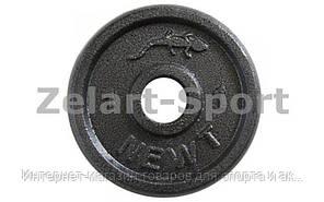 Блины (диски) стальные окрашенные d-30мм UR Newt NT-5222-1 1кг (сталь окрашенная, серый)