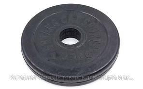 Блины (диски) обрезиненные d-30мм TA-1441-1,25S 1,25кг (металл, резина, черный)