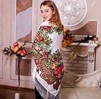Хустка Квіти (110х110см + бахрома)